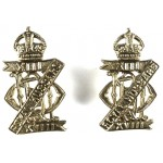 13/18th Hussars Pair Of Brass Collar Badges