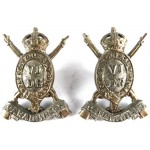 6th Dragoon Guards Pair Of Bi Metal Collar Badges