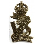 13th Hussars Brass Collar Badge