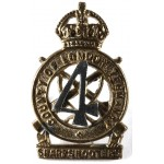 4th County Of London Yeomanry Bi Metal Collar Badge