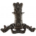 11th Hussars Officers Bronze Collar Badges