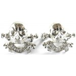 17/21st Lancers Officers Silver Plated Collar Badges