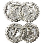 Argyll & Sutherland Highlanders Victorian White Metal Collar Badges