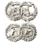 Argyll & Sutherland Highlanders Post 1902 White Metal Collar Badges