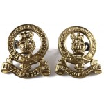 14/20th Kings Hussars Pre 1953 Brass Collar Badges