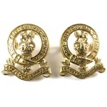 14/20th Kings Hussars Post 1953 Officers Gilt Collar Badges