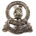 14/20th Kings Hussars Pre 1953 Brass Collar Badge