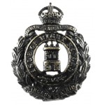 Isle Of Wight Rifles Pre 1953 Blackened Collar Badge