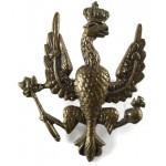 14/20th Hussars Brass Collar Badge 36mm Tall.
