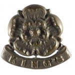 Kings Liverpool Regiment Post 1882 Brass Collar Badge