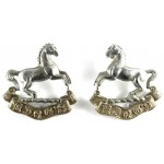 Kings Liverpool Regiment  Bi Metal Collar Badges