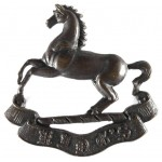 Kings Liverpool Regiment Bronze Collar Badge 38mm Tall