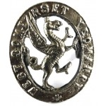 West Somerset Yeomanry White Metal Collar Badge
