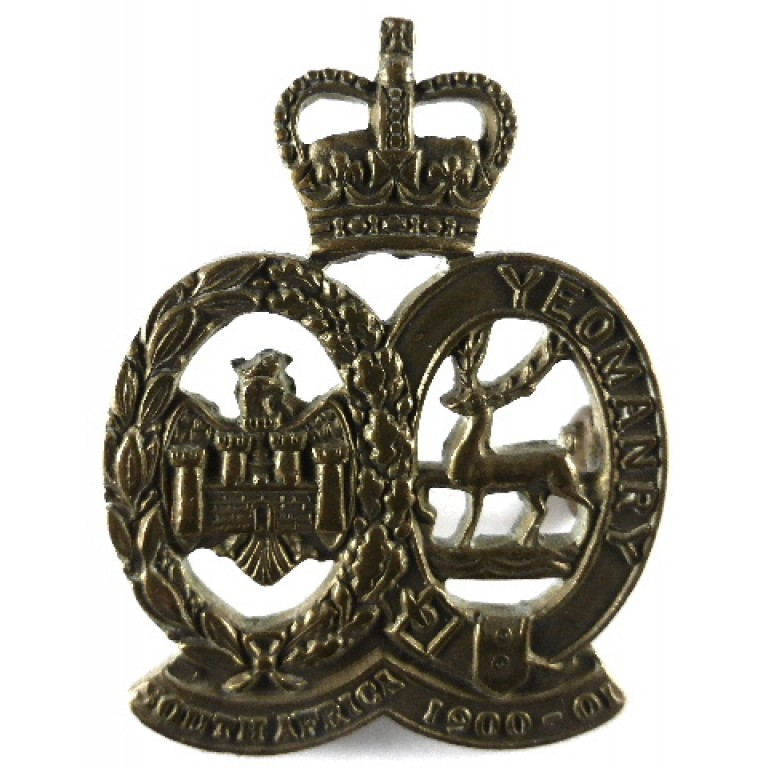 Bedfordshire & Hertfordshire Yeomanry Brass Collar Badge