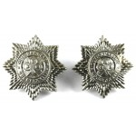4th Royal Irish Dragoons White Metal Collar Badges