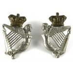 8th Kings Royal Irish Hussars Victorian Bi Metal Collar Badges