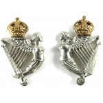 8th Kings Royal Irish Hussars Bi Metal Collar Badges