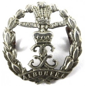 Middlesex Regiment Victorian Small White Metal Collar Badge