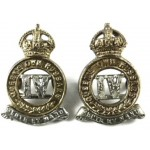 4th Queens Own Hussars Bi Metal Collar Badges