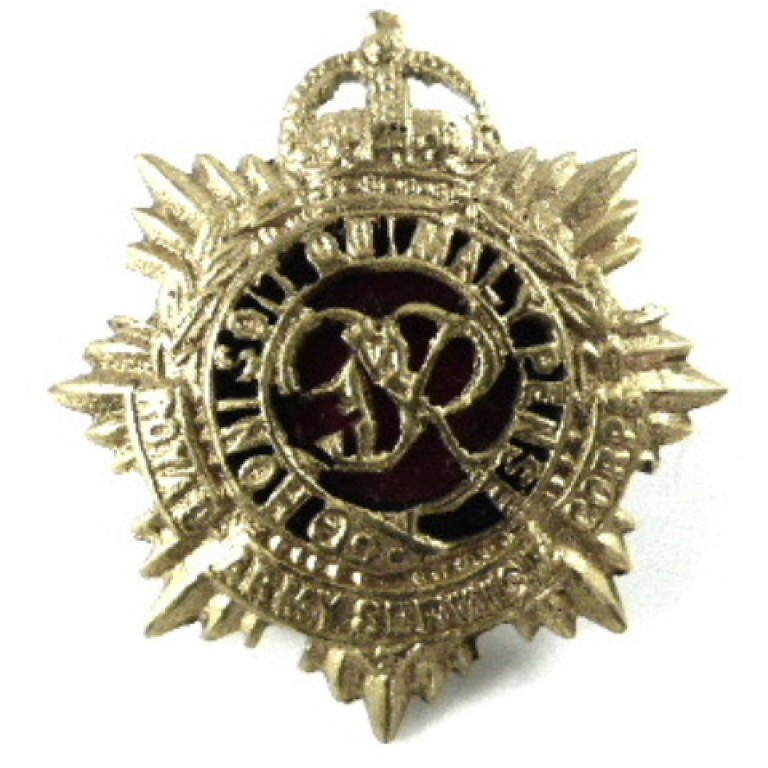 Royal Army Service Corps Officers Gilt/Enamel Collar Badge