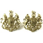 General Service Corps Miniature Brass Collar Badges