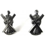 Black Watch Silver Collar Badges 25mm