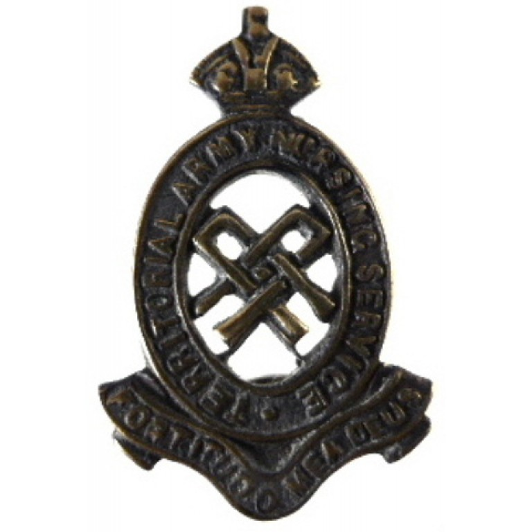 Territorial army Nursing Service Bronze Collar Badge