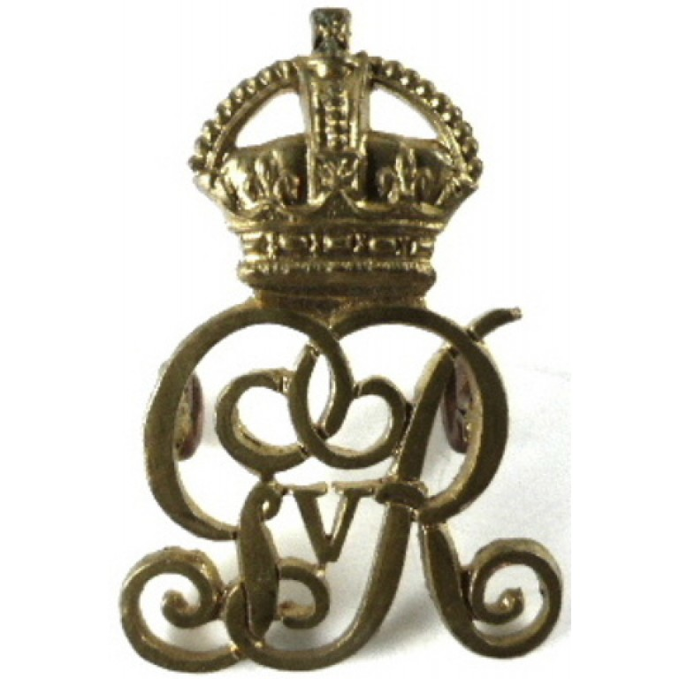 Military Provost Staff Corps GVR Brass Collar Badge