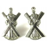Black Watch White Metal Collar Badges 25mm Tall