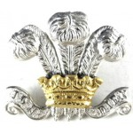 10th Hussars Officers Silver/Gilt Collar Badge