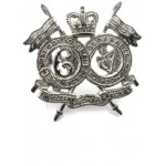 16/5th Lancers E11R Officers Silver Plated Collar Badge
