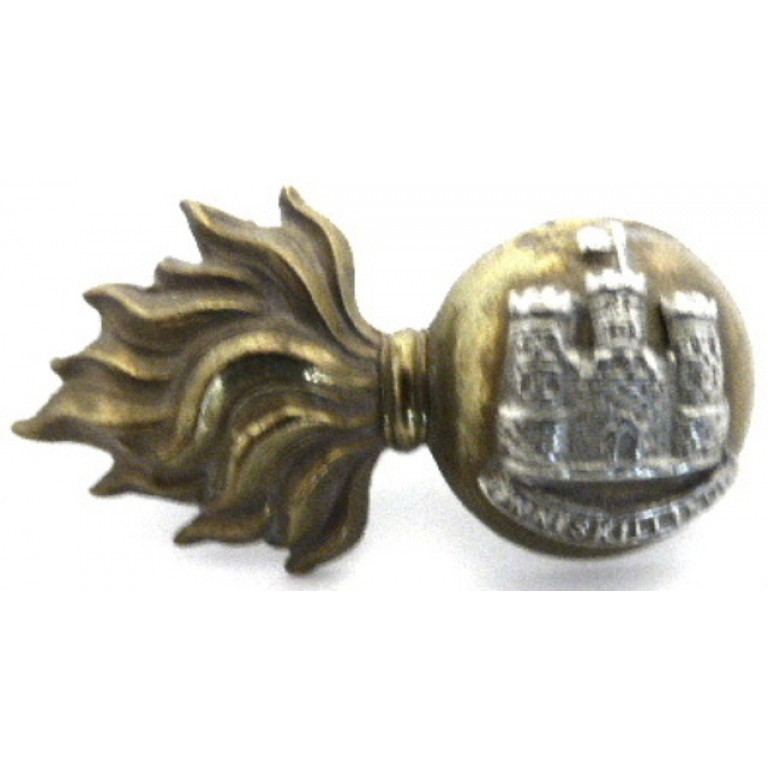 Royal Inniskilling Fusiliers Bi Metal Collar Badge
