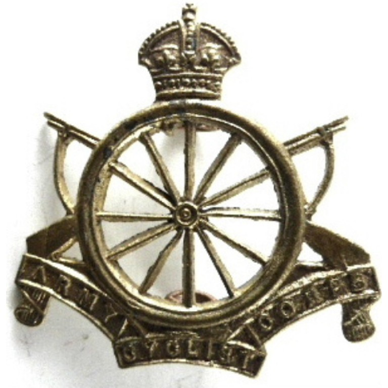 Army Cyclist Corps Brass Collar Badge