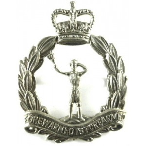 Royal Observer Corps Post 1953 White Metal Cap Badge