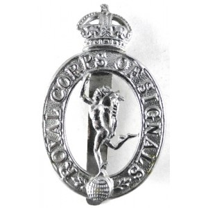 Royal Army Service Corps Chrome Plated Cap Badge