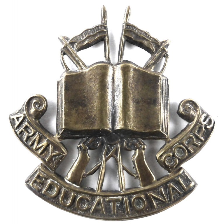 Army Educational Corps Brass Cap Badge