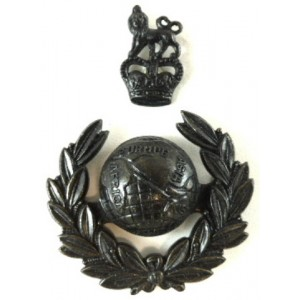Royal Marines E11R Officers Two Part Bronzed Cap Badge