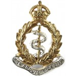 Royal Army Medical Corps Officers Silver/Gilt Cap Badge