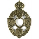 Royal Electrical & Mechanical Engineers Brass Cap Badge
