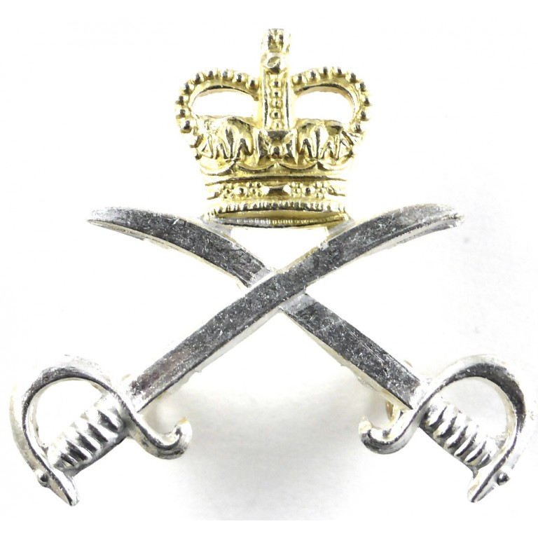 Army Physical Training Corps Officers Sil/Gilt Cap Badge