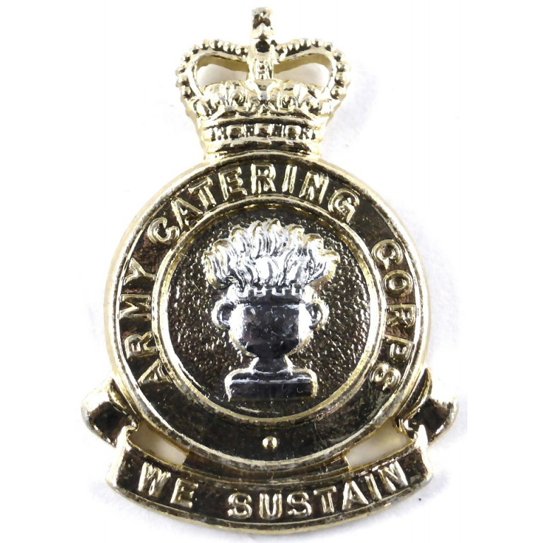 Army Catering Corps E11R Anodised Aluminium Cap Badge