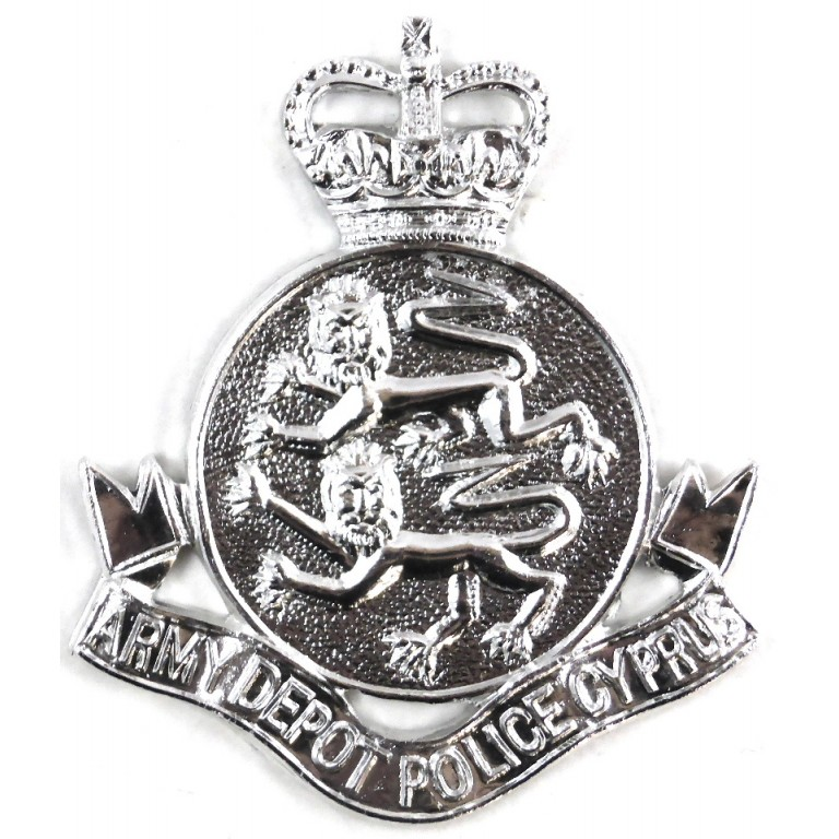 Army Depot Police Cyprus Anodised Cap Badge