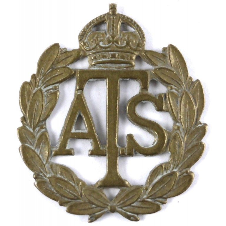 Auxiliary Territorial Service Brass Cap Badge