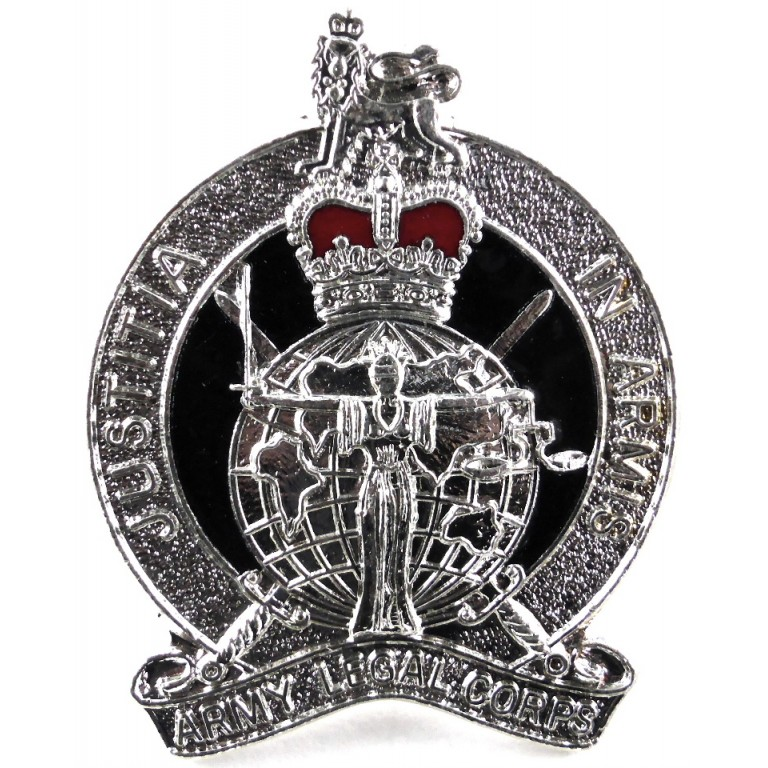 Army Legal Corps Bright Plated/Enamel Cap Badge