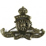 Royal Artillery Brass Cap Badge Applied Wheel Pre 1953