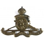 Royal Artillery Brass Cap Badge Solid Centre Pre 1953