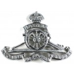Royal Artillery Cap Badge Chrome Pre 1953