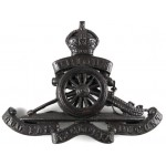 Royal Artillery Officers Bronze Cap Badge Pre 1953