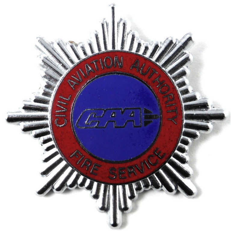 Civil Aviation Authority Fire Service Chrome/Enamel