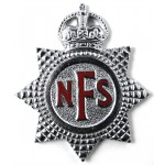 National Fire Service Chrome/Enamel Cap Badge